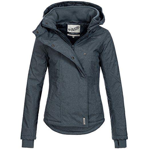 63a7aa2684686f Sublevel Damen Herbst Winter Jacke Mantel Parka Outdoor Stepp Winterjacke  46550 XS-XL: Amazon