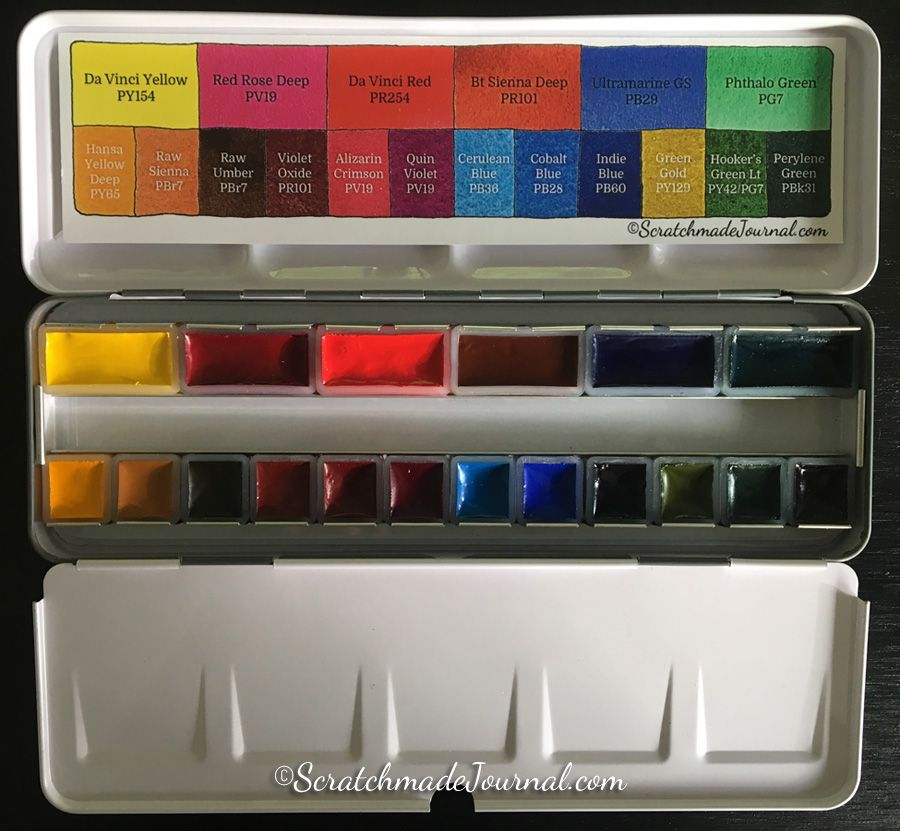 Say Hello To The Scratchmade Watercolor Palette With Da Vinci
