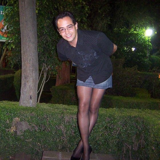 Boys who wear pantyhose and mini skirts