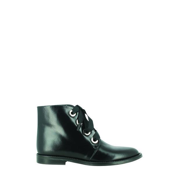 Bottes cuir plates Jonak en noir pour femme | Galeries Lafayette