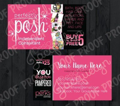Posh Sample Bag - Double Sided Header Cards Designs By Jacquelyn - Sample Cards