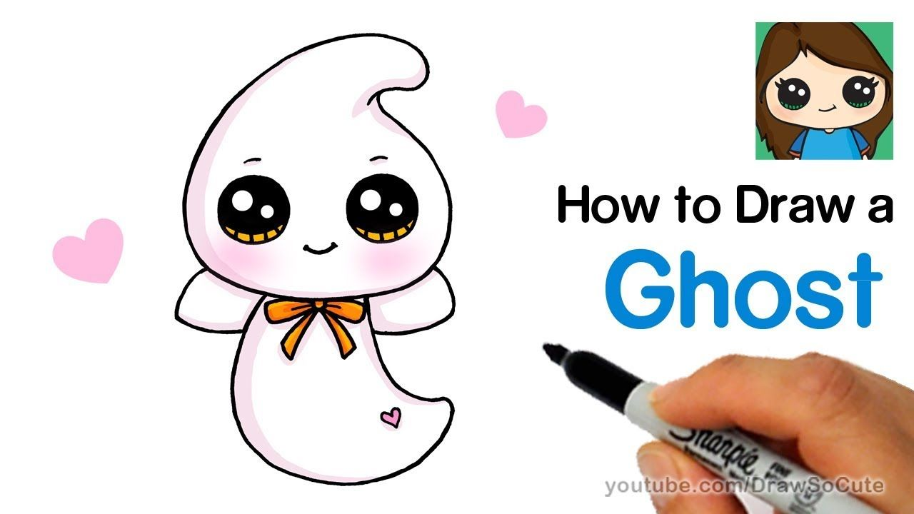 How To Draw A Cute Ghost Easy Beanie Boos Youtube Cute