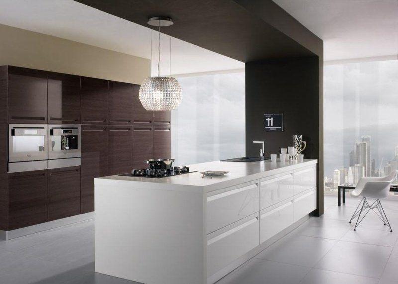 Hotte décorative design comme un point focal dans la cuisine \u2013 105