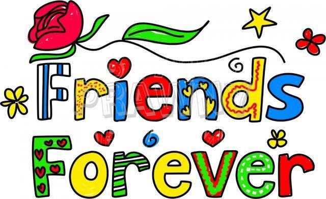 friends forever decorative doodle