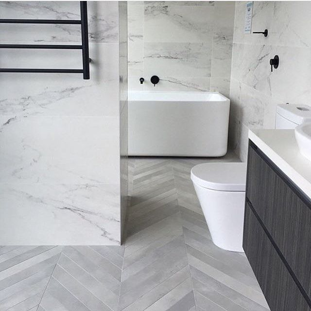 Bathroom Collective On Instagram Australia Interiordesign Architecture Bathroom Tap White Marble Bathrooms Herringbone Tile Floors Trendy Bathroom Tiles