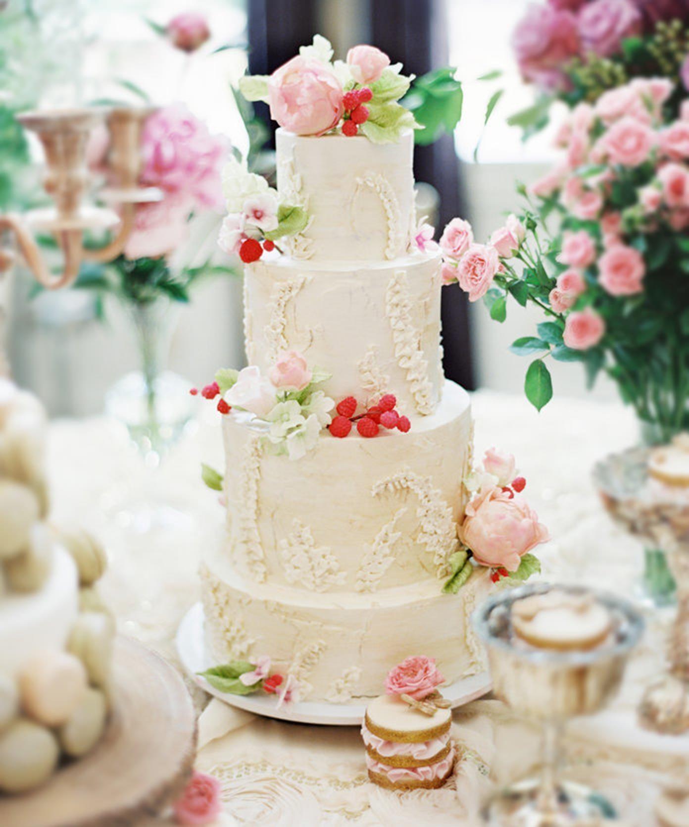Wedding Cake Rough Price In 2020 Pink Wedding Cake Romantic Wedding Cake Wedding Cakes With Flowers