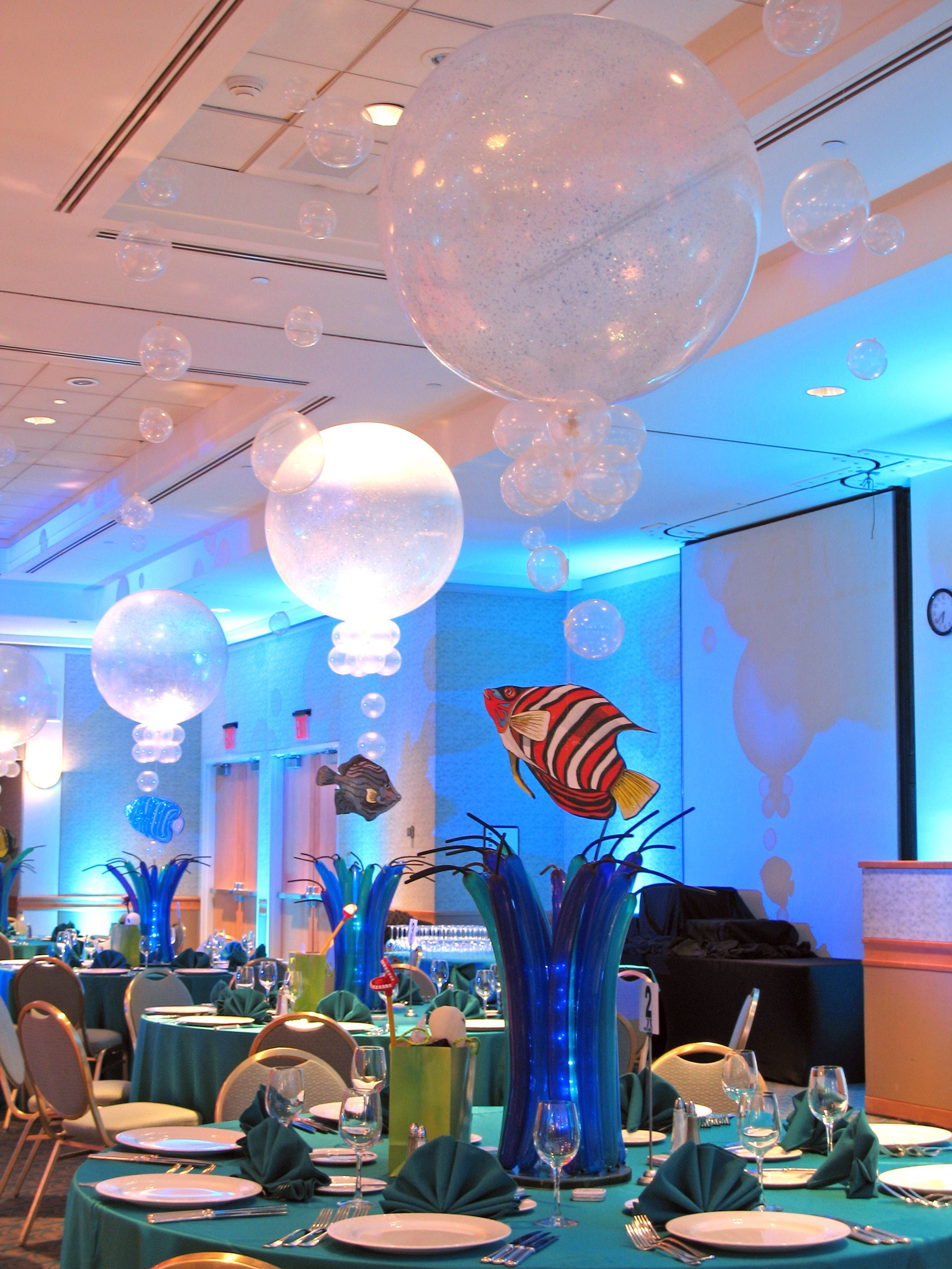 Water Bubbles Centerpiece Beach Themed Party Under The Sea Theme Sea Theme