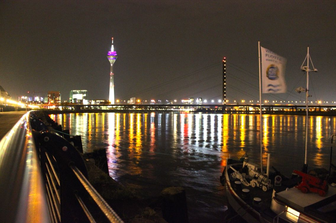Düsseldorf in the night.