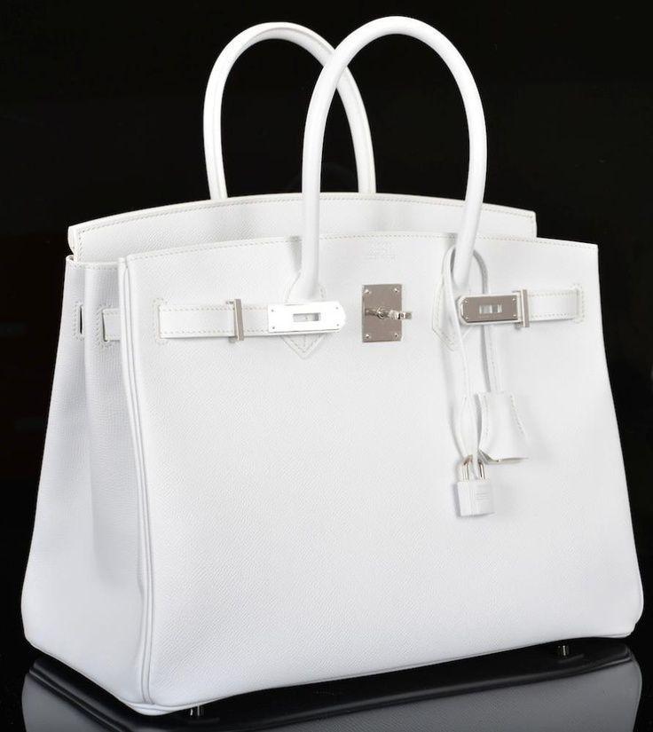 HERMES Birkin Bag 35cm White Palladium Hardware  4b2cc076afd03