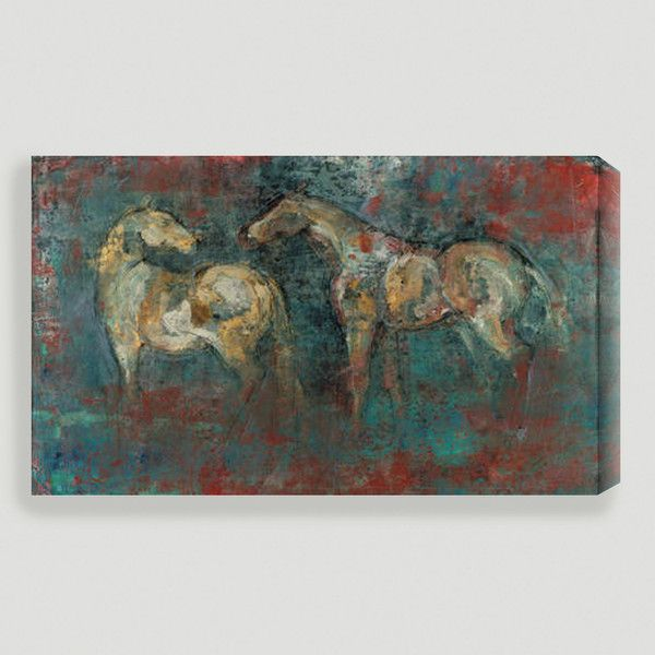 Cost Plus World Market Paddock Ii By Maeve Harris 200 Liked On Polyvore Featuring Home Home Decor Wall Art Art Horse Wall Art Animal Wall Art Art