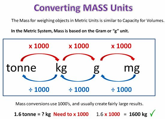 Metric Conversion Thirteen  Mass  Math    Converting