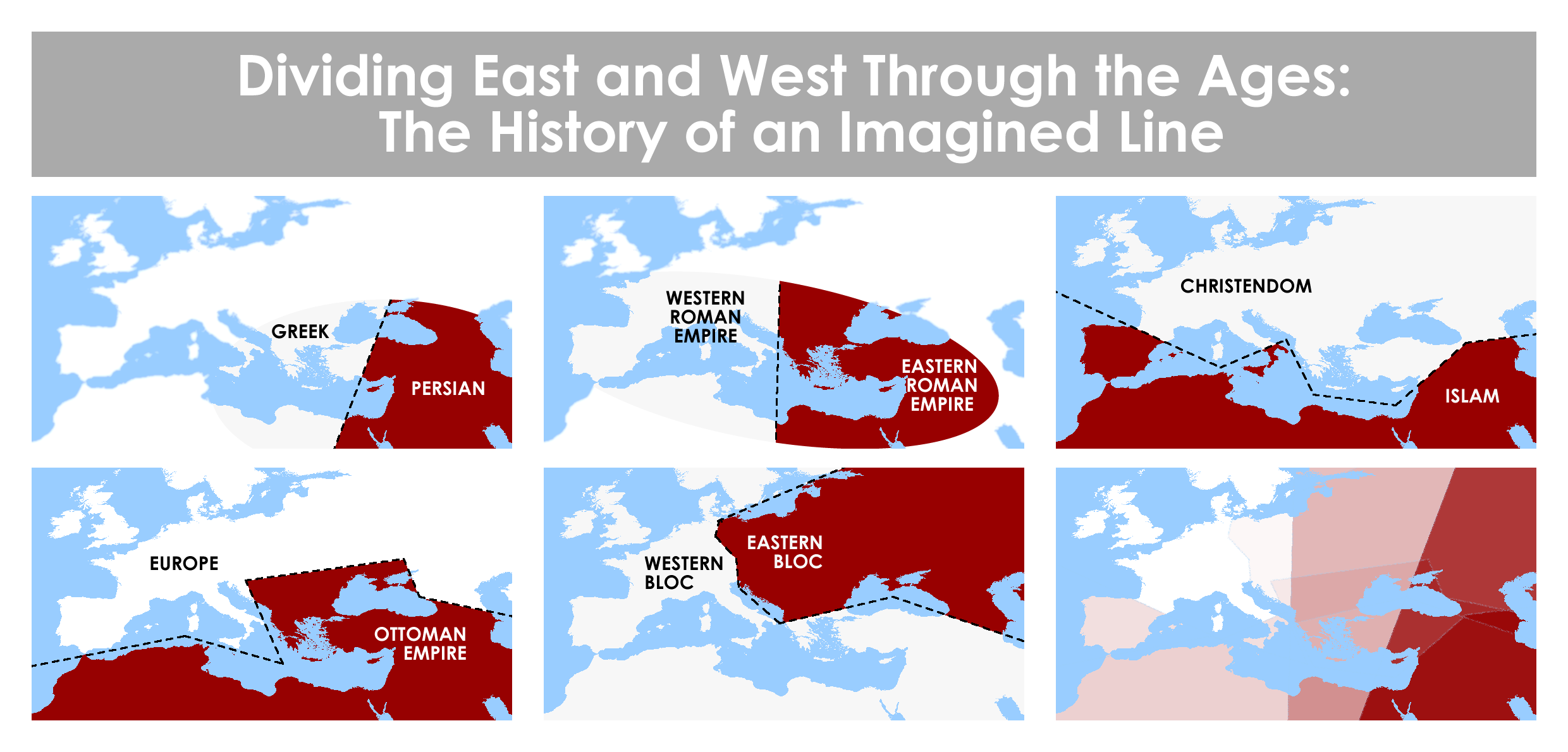 Dividing East and West through the ages the history of an