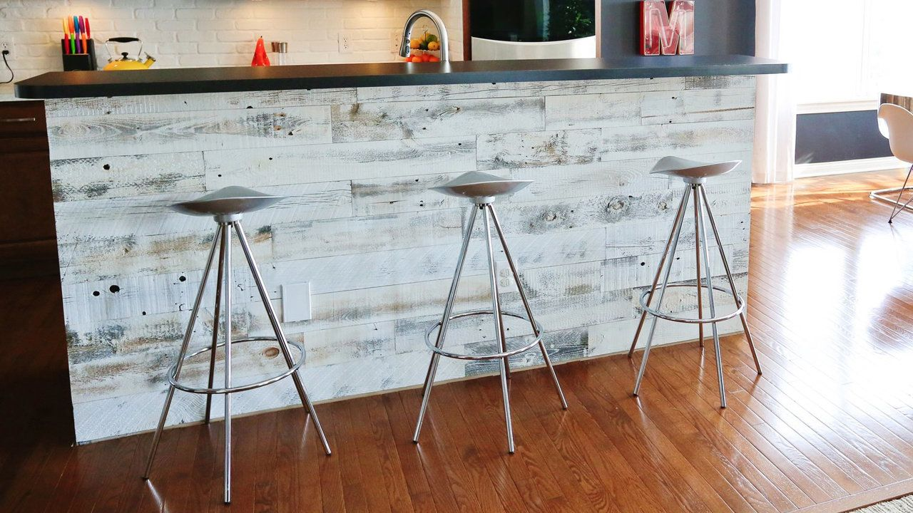 Peel and stick wood panels provide an instant reclaimed look stikwood panels are ultra thin planks that use less energy and material than