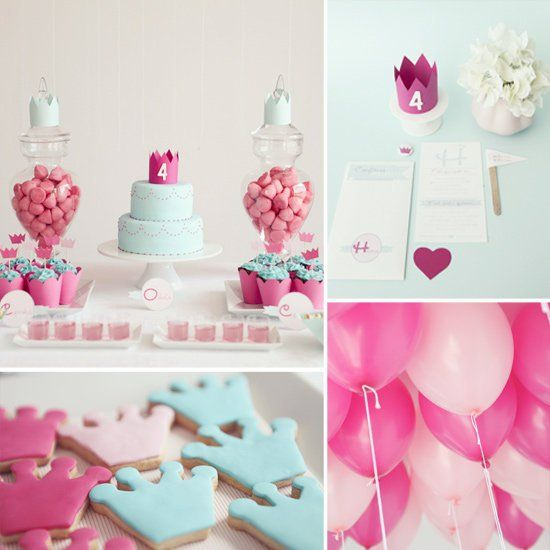 Pin for Later: 120 Kids' Birthday Party Themes to Celebrate Your Child's Big Day An Elegant Princess-Themed Party