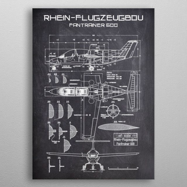 RHEINFLUGZEUGBOU by FARKI15 DESIGN | metal posters - Displate | Displate thumbnail