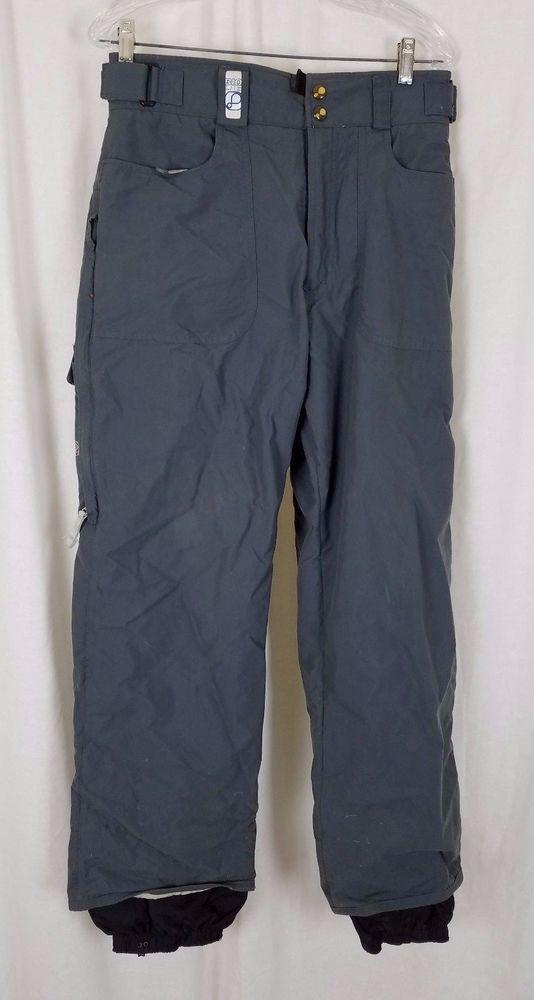 Mens Burton Bio-Lite Insulated Winter Snow Ski SnowBoard Pants S Gray Cargo #Burton