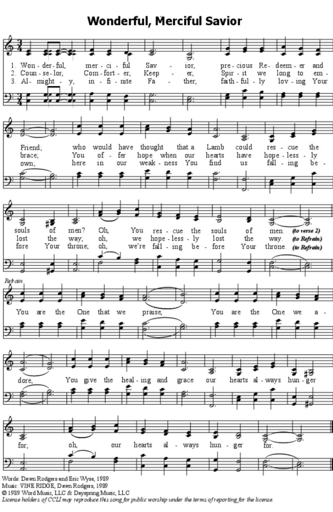 Wonderful Merciful Savior Download Sheet Music Sheet Music Pdf