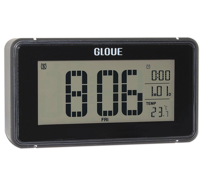 Gloue 21 Polyphonic Music Digital Alarm Clock Snooze And Large Display And Smart Backlight Battery Operated And Temperat Digital Alarm Clock Alarm Clock Clock