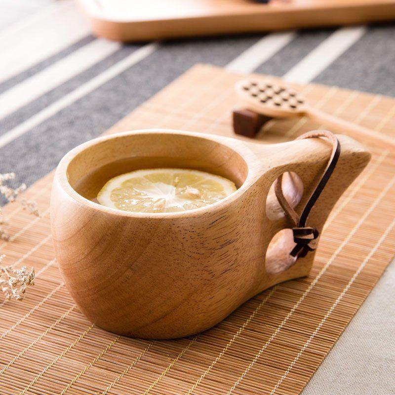 Ergonomic Wooden Coffee Mug Wooden Beer Mug Beer Wood Mugs