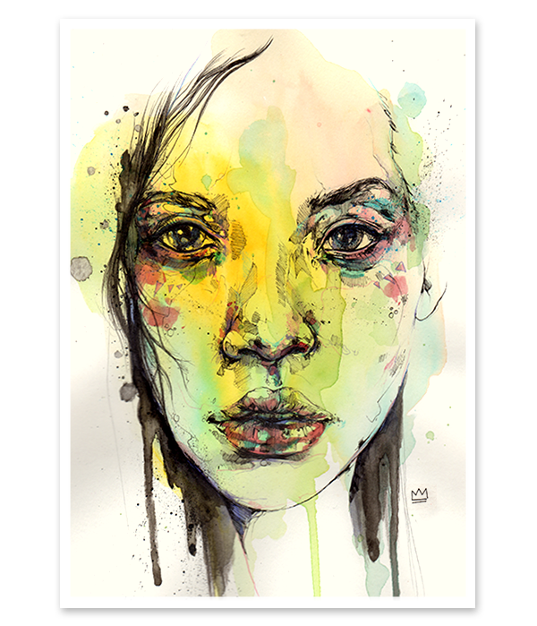 Juxtapoz Magazine Displaying Items By Tag Current Watercolor Sketch Watercolor Art Face Portrait Drawing