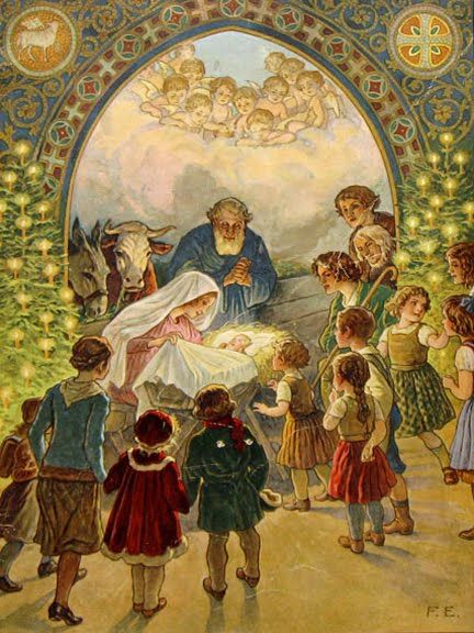 joy to the world what a beautiful vintage christmas card with celebrating the true meaning of christmas with baby jesus