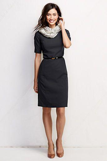 4b137e64 Lands' End Women's Short Sleeve Washable Wool Dress   ♡♡ PIECES ...