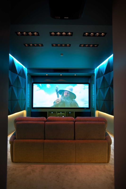 Home theater room design decor movie rooms theatre also pin by systems on installation in rh pinterest
