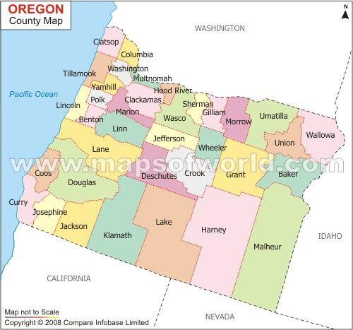 County Map Of Oregon County Map California Map Oregon