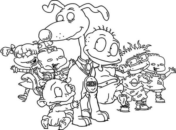 How To Draw The Rugrats Characters Coloring Page