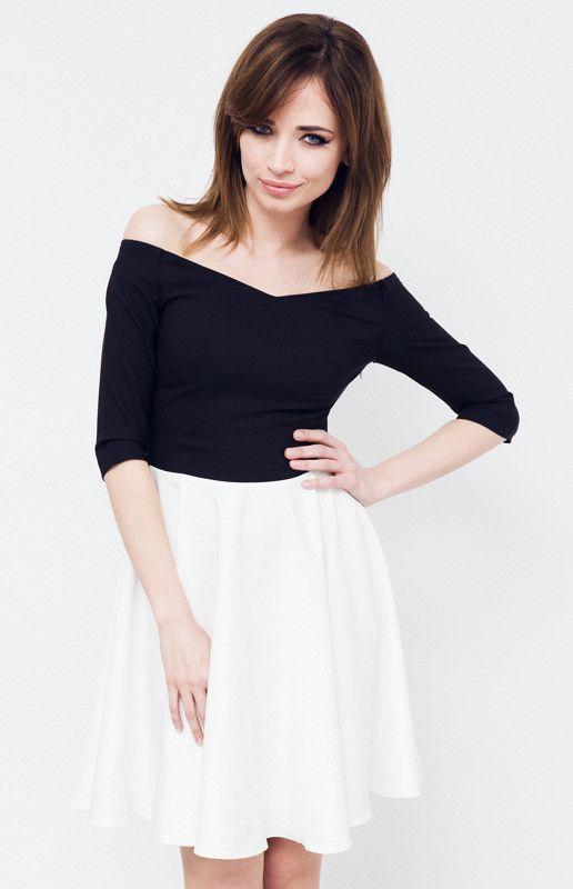 czarno-białe sukienki dla nastolatków