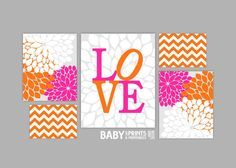 pink and orange baby room - Google Search