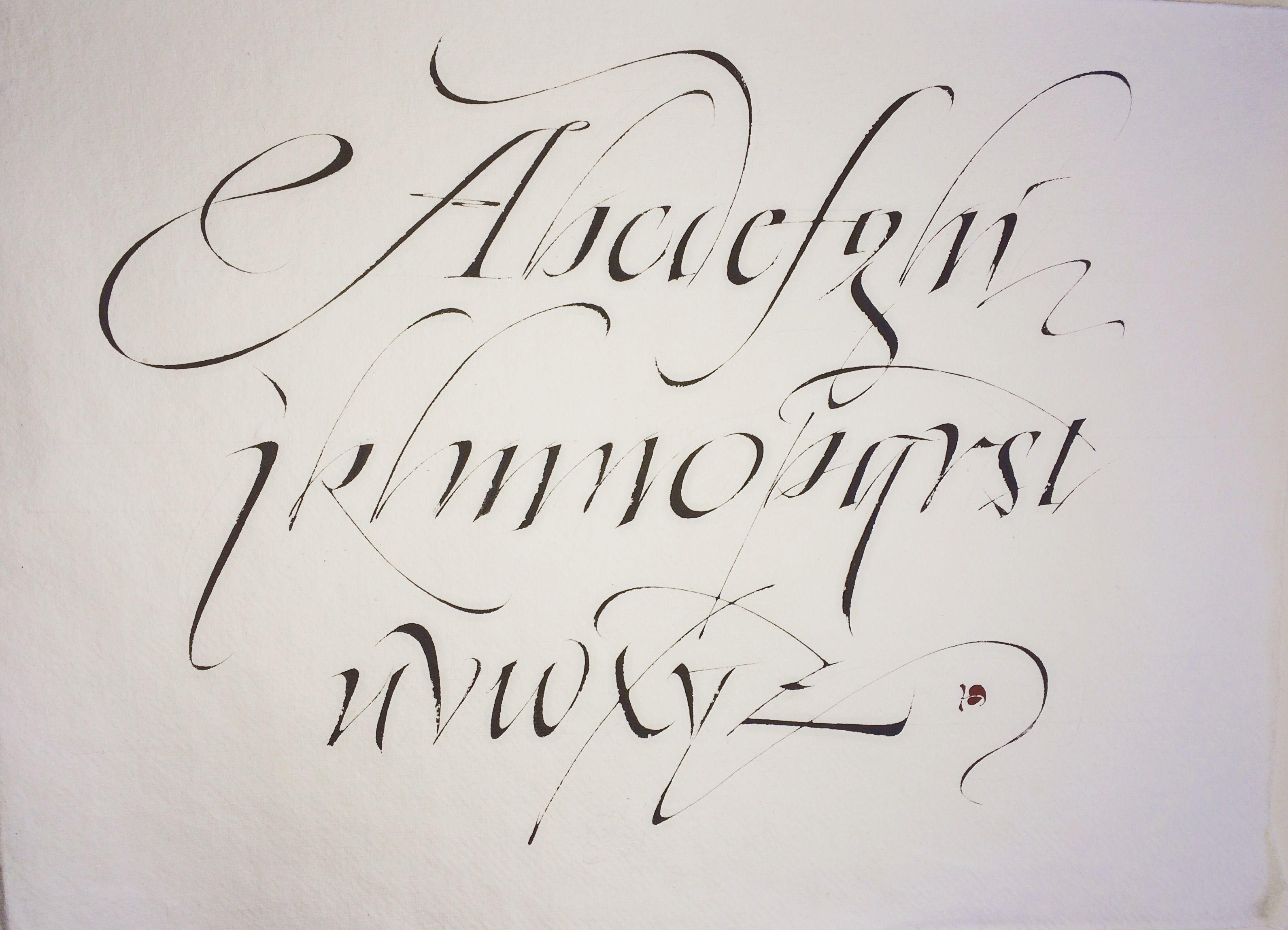Christopher haanes italic alphabet haanes italic alphabet