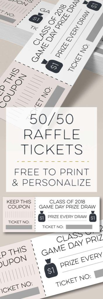 Moneybags 50/50 Raffle Tickets Raffle tickets, Free printable and 50th - print raffle tickets free online
