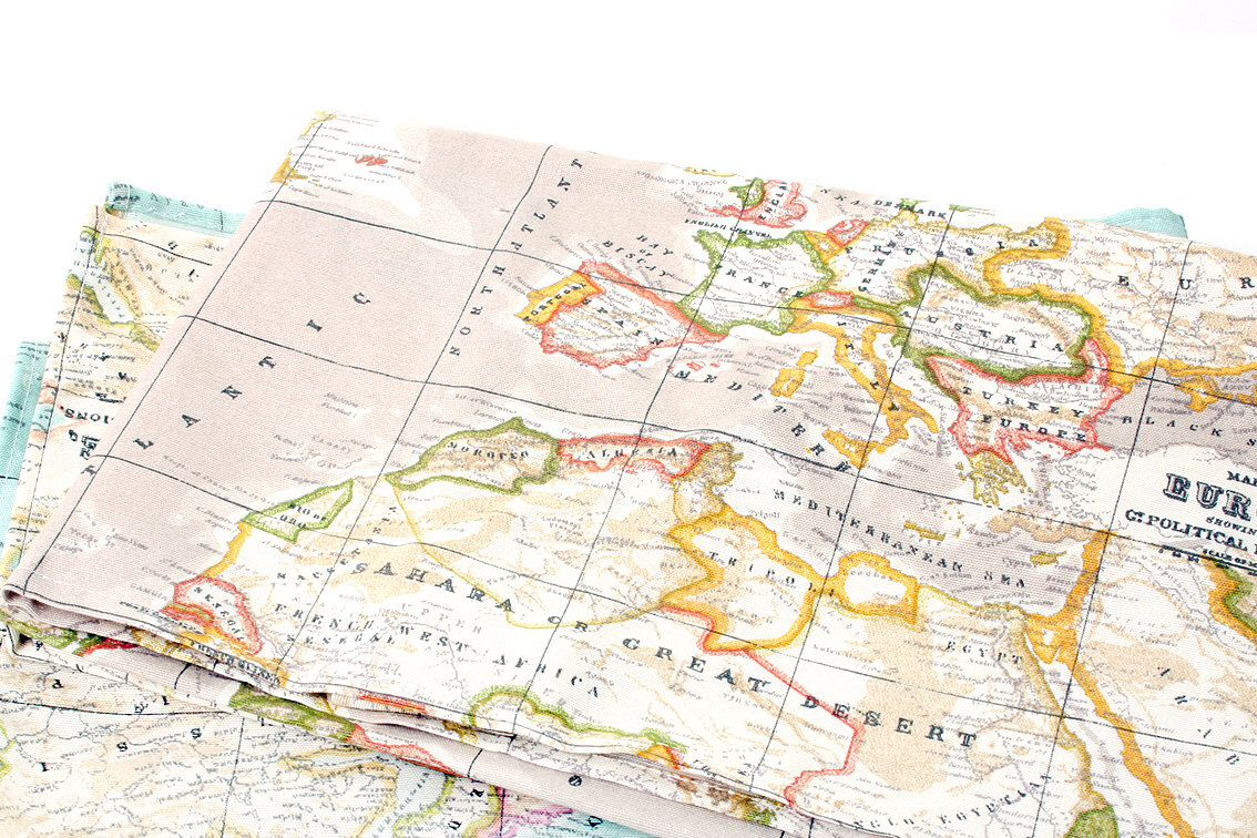 Beige worldmap fabric cotton polyester made in spain world beige worldmap fabric cotton polyester made in spain world pattern map fabric gumiabroncs Images