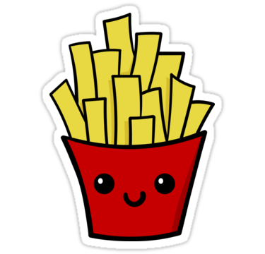 French Fries Sticker By Daphne Li Verhoef French Fries Stickers Art Collage Wall