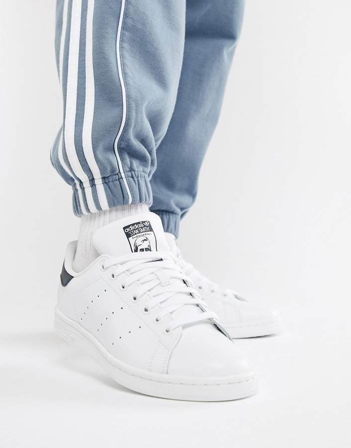 buy popular ed29e a8a5f adidas Originals Stan Smith leather sneakers in white and ...