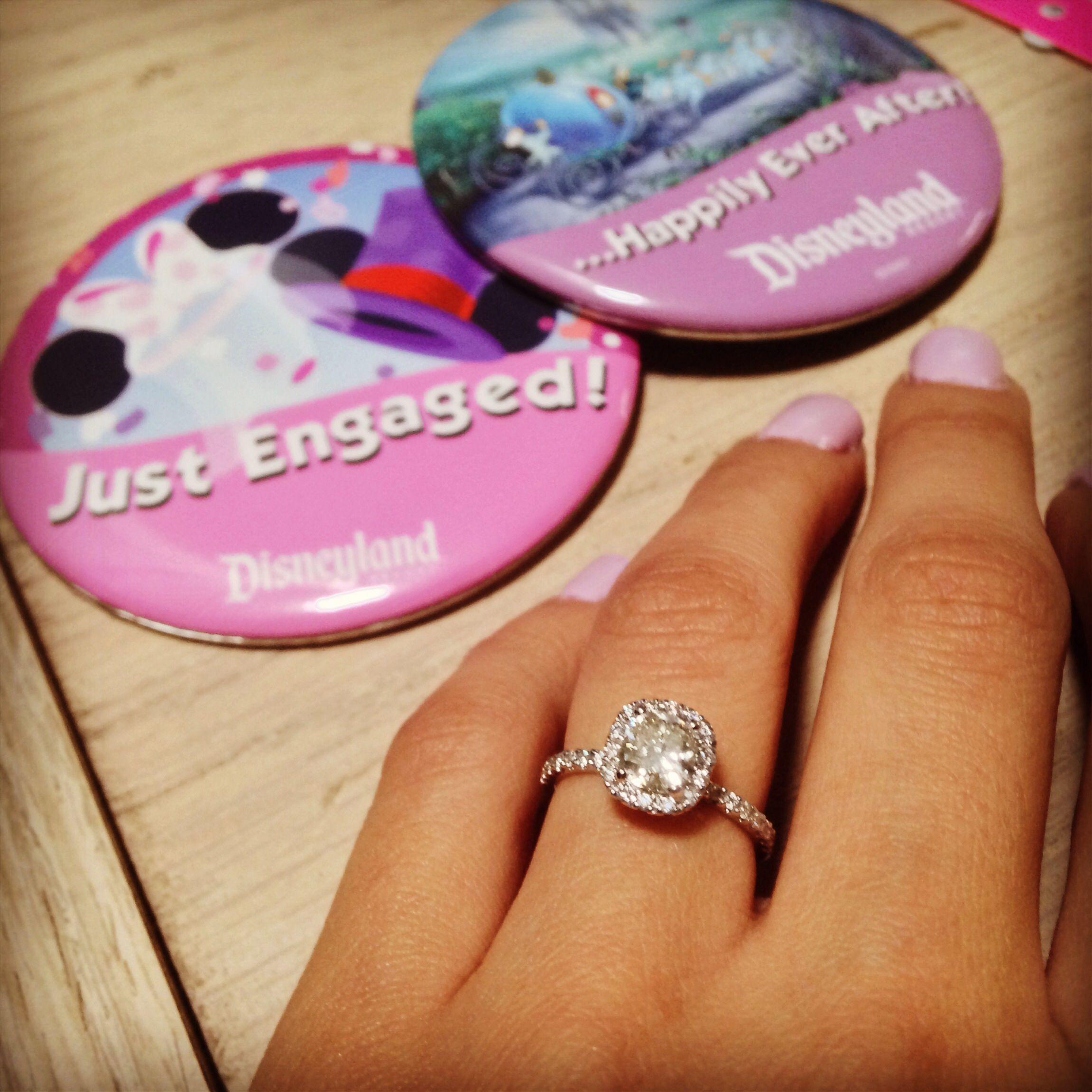 Disneyland diamond engagement ring! Cushion cut wedding time   Je t ...
