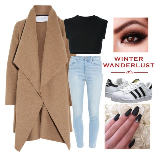 """❄️❄️"" by siancarsonxxx ❤ liked on Polyvore featuring Harris Wharf London, adidas Originals, Paige Denim, American Eagle Outfitters, women's clothing, women, female, woman, misses and juniors"