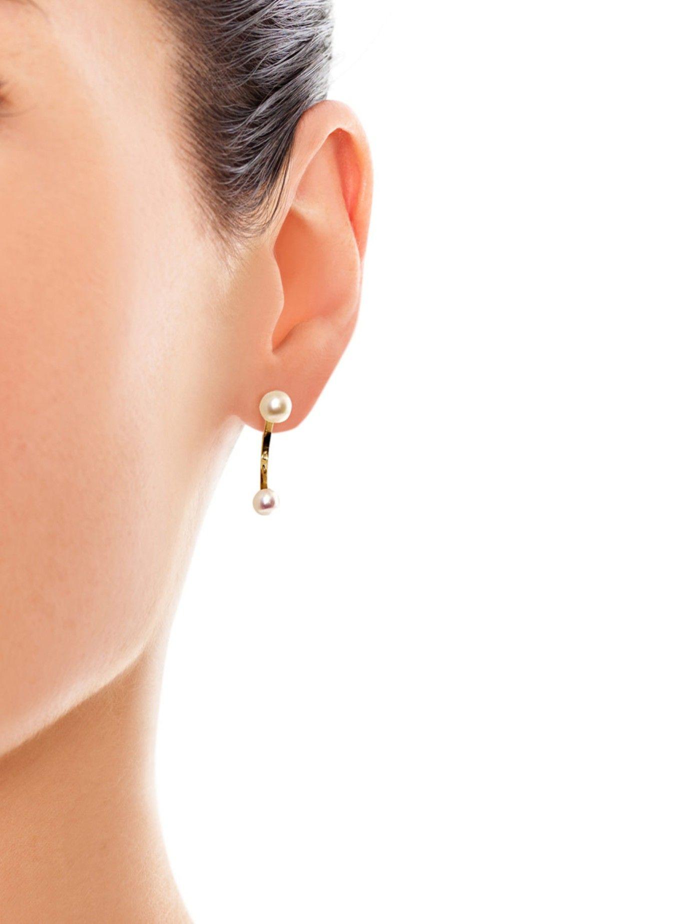 Pearl & yellow-gold single earring   Delfina Delettrez   MATCHESFASHION.COM AU
