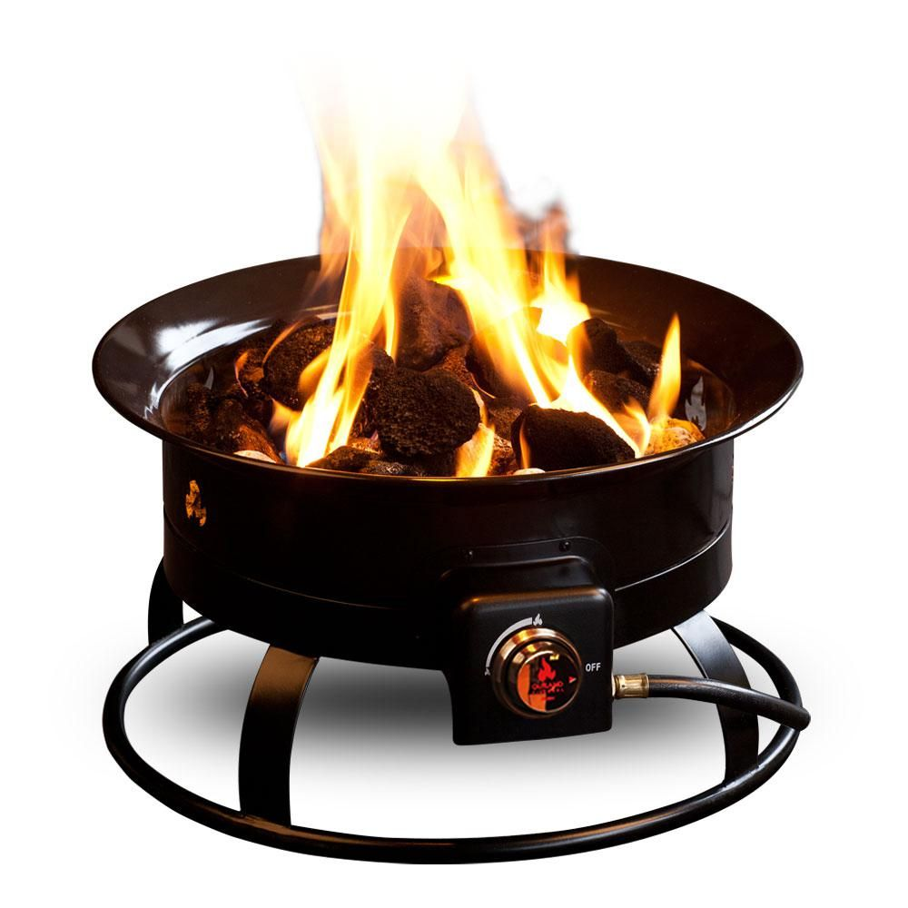 Outland Firebowl Standard 19 In Steel Portable Propane Fire Pit 823 The Home Depot Propane Fire Pit Cool Fire Pits Portable Propane Fire Pit