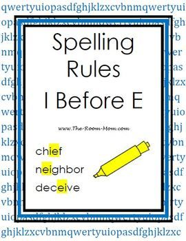 spelling rules i before e spelling spelling rules spelling spelling worksheets. Black Bedroom Furniture Sets. Home Design Ideas
