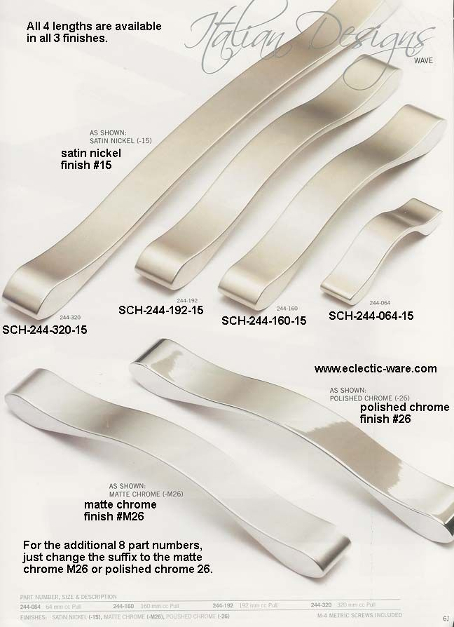Superb Schaub Italian Designs Collection Of Fancy Wavy Cabinet Handles