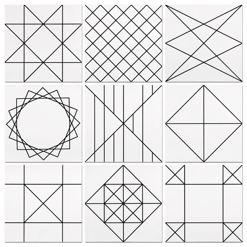 USD 5.90 Nordic modern minimalist black and white tile ...