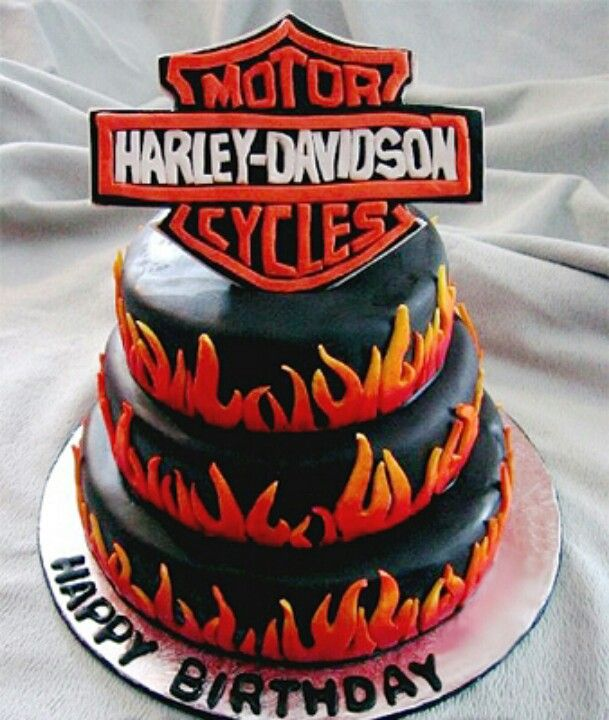 Happy Birthday Jeff Motorcycle Cake
