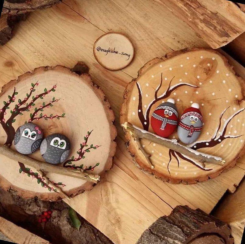 41+ Painted Owl Rocks   Handmade Christmas   2020