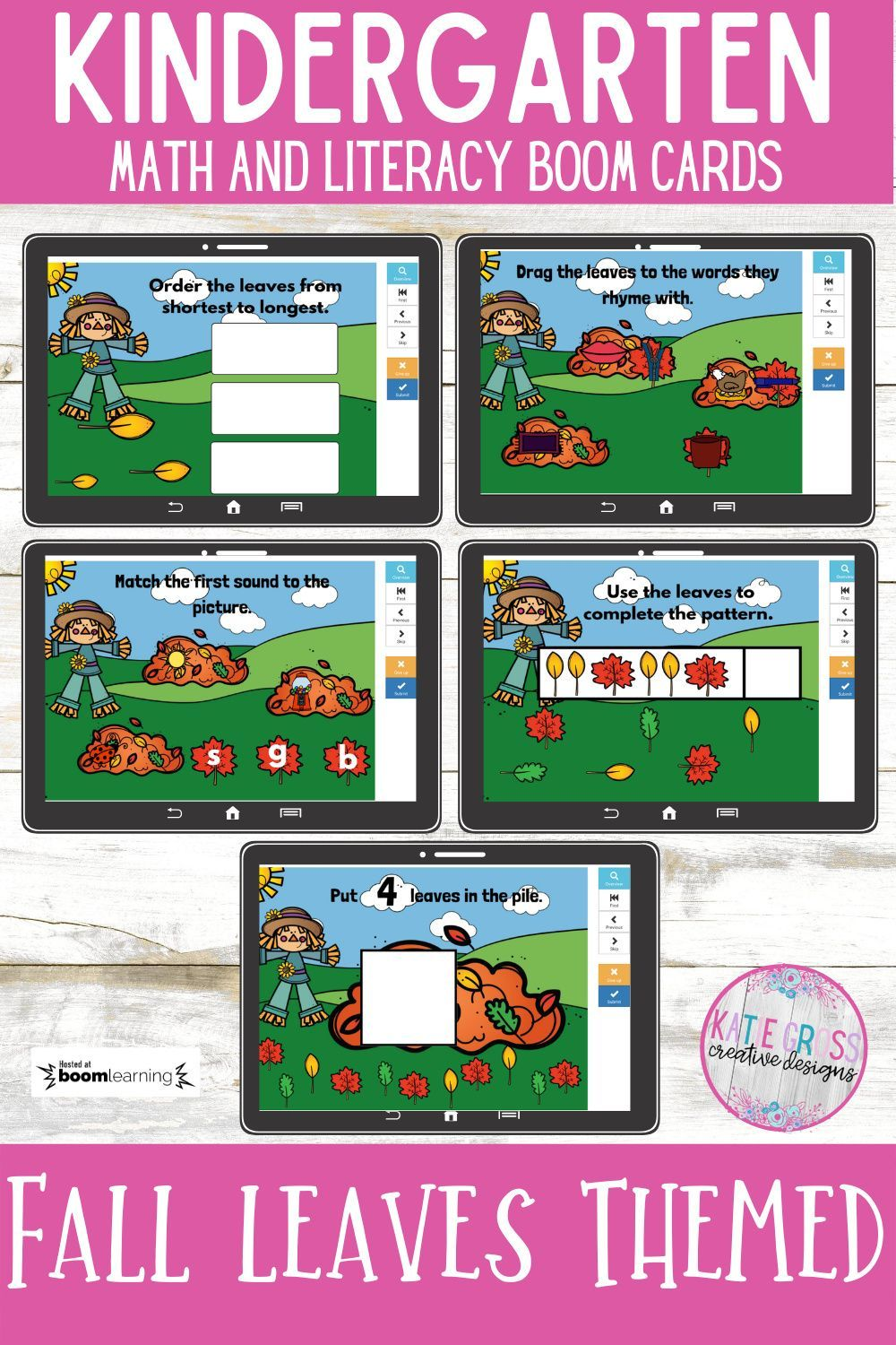 Fall Leaves Boom Card Bundle For Kindergarten Distance Learning In 2020 Literacy Activities Kindergarten Kindergarten Math Activities Fall Kindergarten Ready to go fall literacy pack