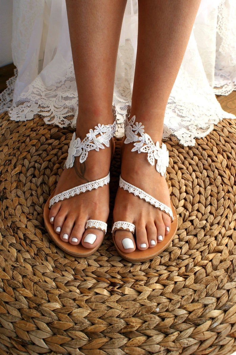 31+ White wedding sandals flat info