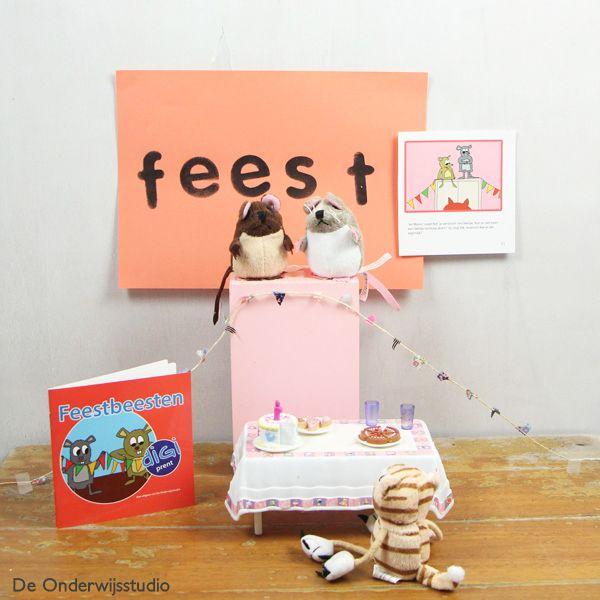 Verteltafel Feestbeesten - http://onderwijsstudio.nl/kinderboekenweek-2014-boekjes-en-lesmateriaal-bestellen/