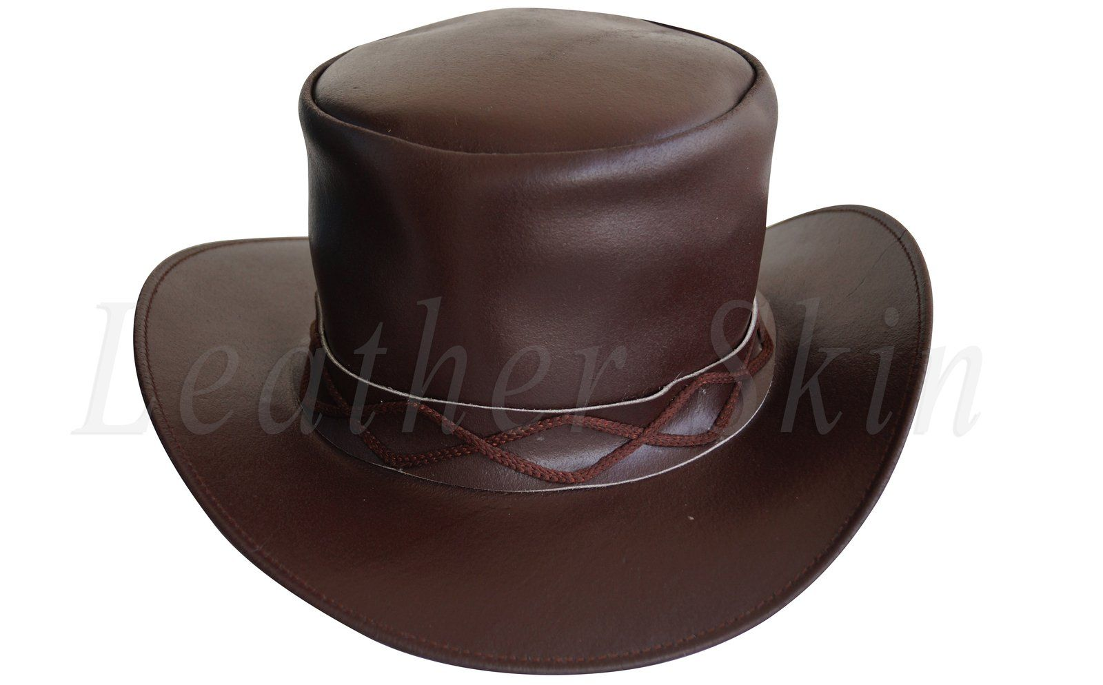 2b202c2153d12 Men Black Leather Rock Hat Fields of the Nephilim Carl McCoy Goth Steam punk