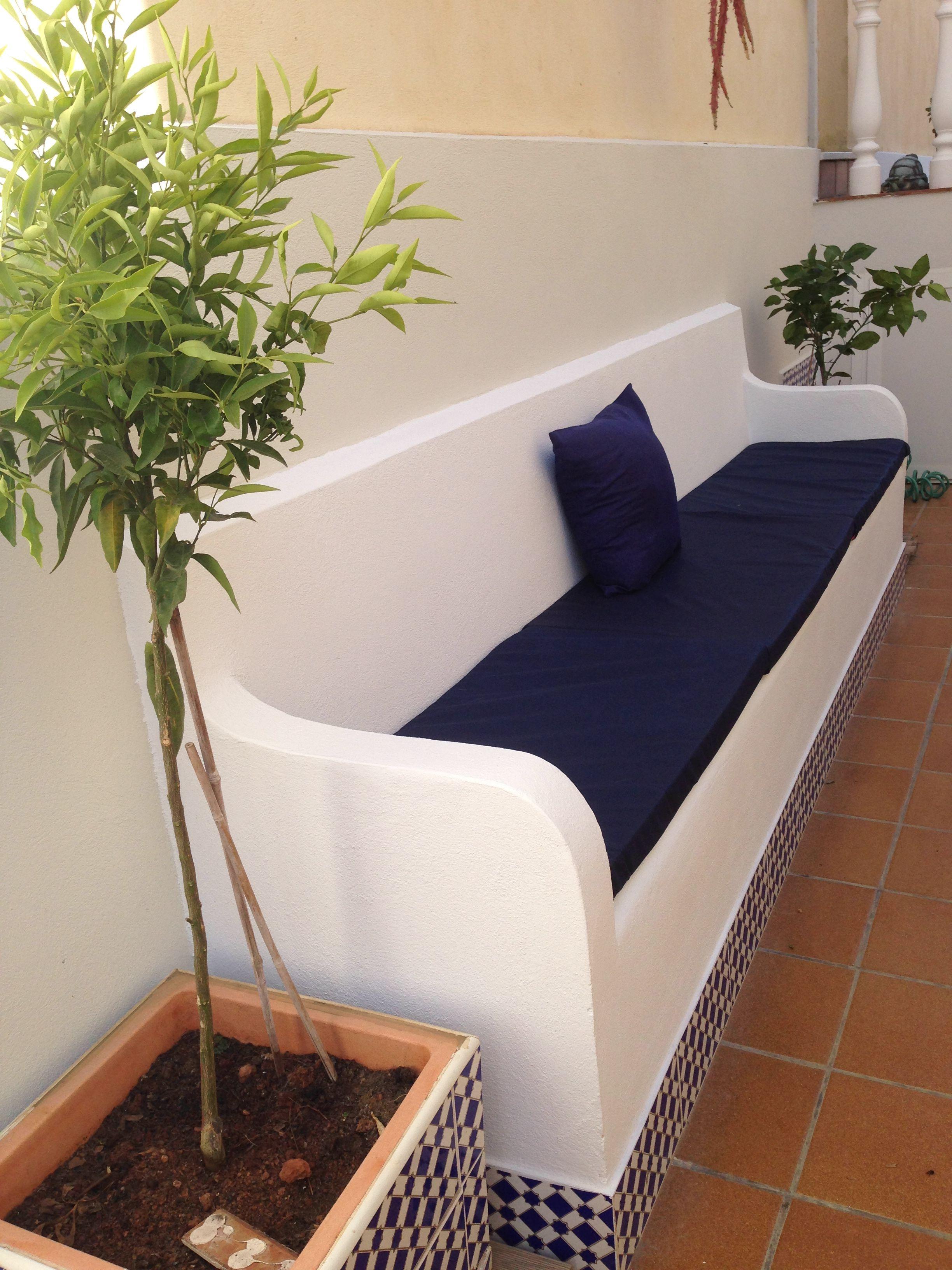 Banco De Obra En Patio Andaluz M D Balsalobre Patios Jardines  ~ Jardineras De Obra Para Terraza